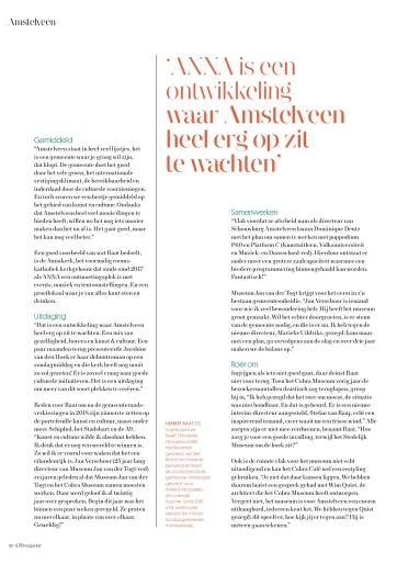 2019-september; UIT Magazine; Herbert Raat over kunst en cultuur in Amstelveen 3 van 4