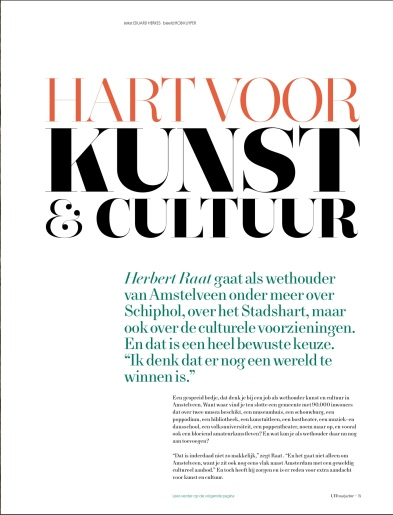 2019-september; UIT Magazine; Herbert Raat over kunst en cultuur in Amstelveen 2 van 4