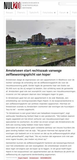 2019-19-12 NUL20; Herbert raat over procedure zelfbewoningsplicht Amstelveen