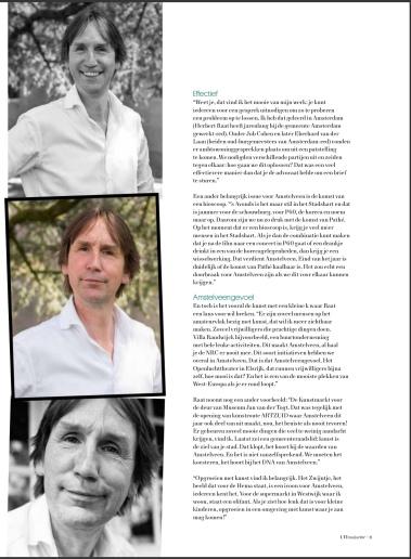2019-september; UIT Magazine; Herbert Raat over kunst en cultuur in Amstelveen 4 van 4
