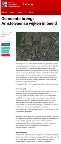 2014-RTVA: Herbert Raat over noodzaak stadsvernieuwing Amstelveen