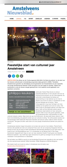 2020-24-1; Amstelveens Nieuwsblad; Herbert Raat over cultuureducatie ambitie Amstelveen