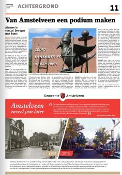 2019-6-11; Het Amstelveens Nieuwsblad; Herbert Raat over de cultuuragenda Amstelveen: de stad als podium