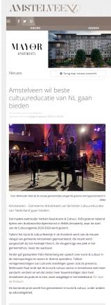 2020-24-1; Amstelveenz; Herbert Raat over cultuureducatie ambitie Amstelveen