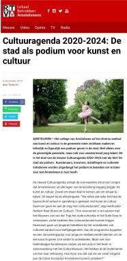 2019-6-11; RTVA; Herbert Raat over de cultuuragenda Amstelveen: de stad als podium 1 van 2