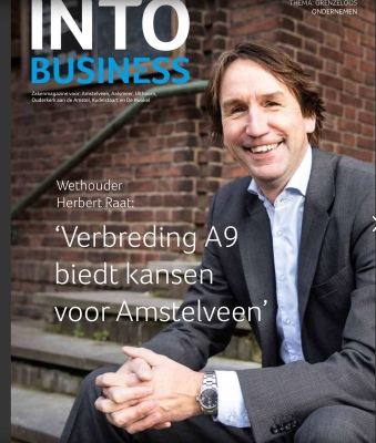 2019-december; INTO business; Interview met Herbert Raat over A9 en Stadshart en toekomst Amstelveen 1 van 5