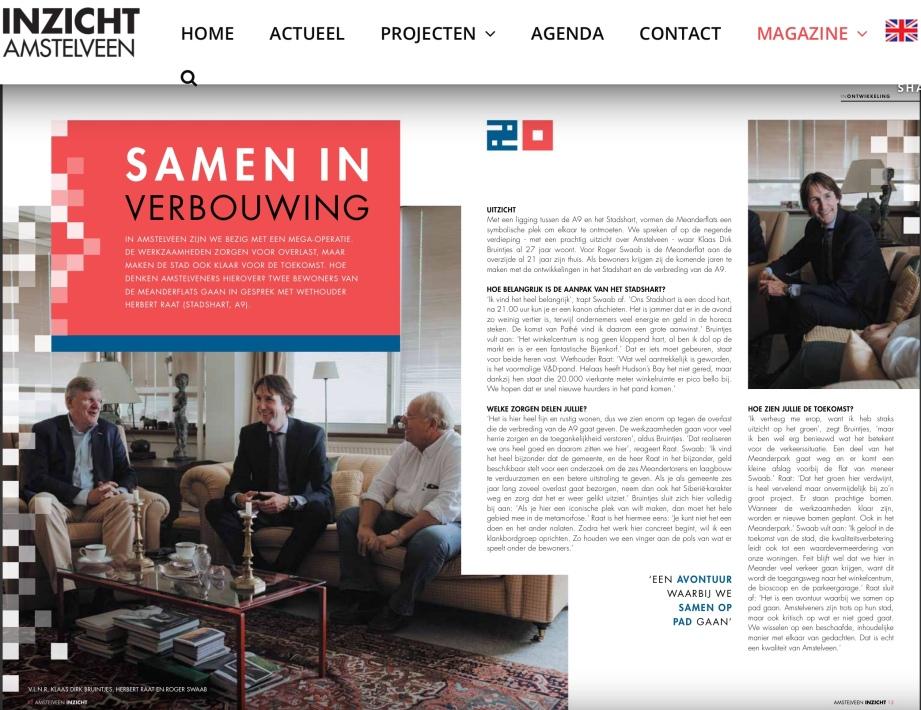 2019-INZICHT; Herbert Raat in gesprek met bewoners Roger Swaab en Klaas Jan Bruintjes van de Meanderflats