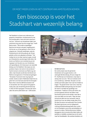2019-december; INTO business; Interview met Herbert Raat over A9 en Stadshart en toekomst Amstelveen 4 van 5