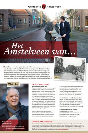 2020-14-1: nummer 1: Het Amstelveen van... Dick Huijer en Herbert Raat