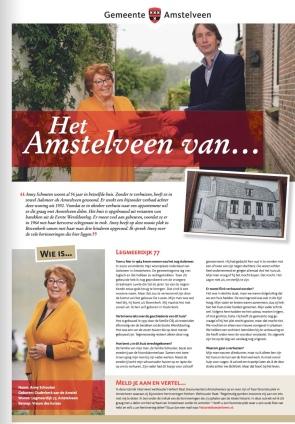 2020-nummer 4: Het Amstelveen van... Anny Schouten en Herbert Raat