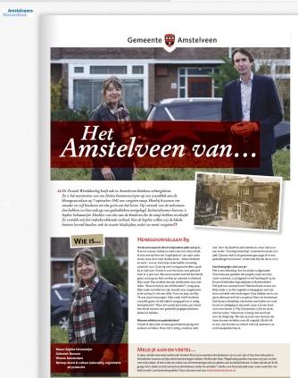 2020-november; Het Amstelveen van...Herbert Raat en Sophie Schrameijer over bombardement Henegouwselaan 1940