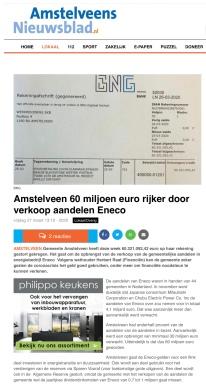 2020-27-3 Amstelveens nieuwsblad:; Herbert Raat over 60 miljoen van Eneco