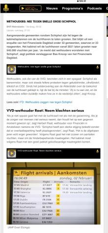 2020-9-3: BNR-radio: wethouder Herbert Raat Amstelveen over toekomst Schiphol