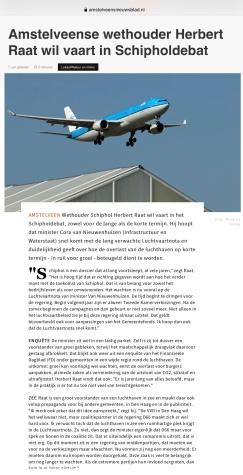 2020-9-3; Herbert Raat over groei Schiphol