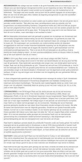 28-4-2020; Amstelveens Nieuwsblad: interview Herbert Raat 10 jaar wethouder 2 van 2