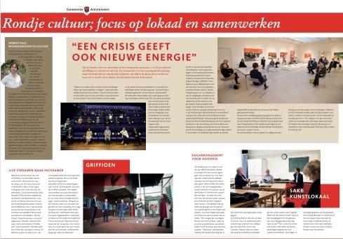 17-6-2020; Amstelveens Nieuwsblad; rondje cultuur van Herbert Raat met Kees Noomen , bert de Pijper en anderen bij museum Jan, SAKB kunstlokaal en het Griffioen