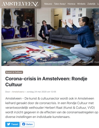 mei 2020; Amstelveenz: rondje cultuur tijdens coronacrisis Amstelveen met Herbert Raat en Inbar Hasson internet versie 1-7