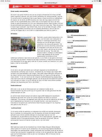 23-6-2020; Amstelveenblog.nl; reactie BRS Schipholregio en Herbert Raat op Luchtvaartnota 2 van 2
