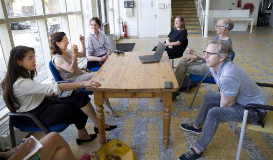 2020-bezoek aan Ateliers 2015-Rubiah Balsem, Jacqueline Höcker, Herbert Raat, Refkele Steemers,Paul Klimecki