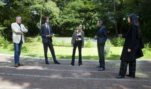 2020-bezoek aan Openluchttheater Elsrijk: Rudolf Switser, Herbert Raat, Veerle Robles, Percy Robles en Rubiah Balsem.