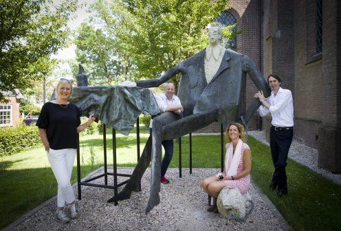 2020-Bezoek aan Jazz in het Dorp; Marga van Herteryck, Sander Mager, Jacobine van den Hoek en Herbert Raat