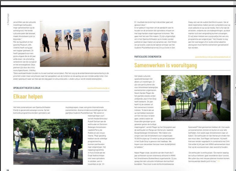 2020-juli; INTO business: Herbert Raat op bezoek met D66 raadslid Anne-Mieke van der Vet, SBA raadslid Percy de Robles en BBA-raadslid Marga van Herteryck op bezoek bij Museum Jan, Openluchttheater Elsrijk en Jazz in het Dorp 2 van 3
