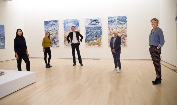 2020: bezoek aan Museum Jan; Rubiah Balsem, Anne-Fleur Pel, Herbert Raat, Anne-Mieke van der Vet en Marieke Uildriks