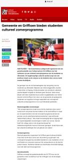 2020-RTVA: Steun voor een cultureel zomerprogramma voor het Griffioen Uilenstede- Anne Fleur Pel, Adriaan Bruin, Kirsten Lenferink en Herbert Raat