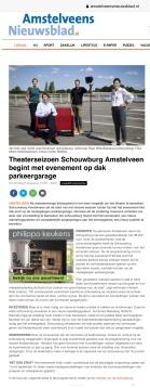 6-8-2020; Amstelveens Nieuwsblad; Herbert Raat over opening theaterseizoen op dak parkeergarage