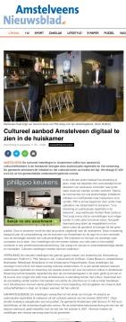 6-8-2020; Amstelveens Nieuwsblad Herbert Raat over cultureel aanbod Amstelveen nu digitaal te zien. webversie.