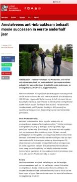 2020-6-10; RTVA; Harmen van der Steenhoven en Herbert Raat op bezoek bij Amstelveens anti-inbraakteam