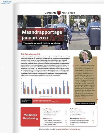 2021-januari-Maandrapportage handhaving Amstelveen; Herbert Raat