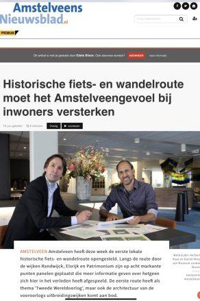 2020-5-11; Amstelveens Nieuwsblad interview met Herbert Raat over historische routes en het Amstelveengevoel 1 van 4