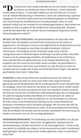 2020-5-11; Amstelveens Nieuwsblad interview met Herbert Raat over historische routes en het Amstelveengevoel 2 van 4
