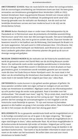 2020-5-11; Amstelveens Nieuwsblad interview met Herbert Raat over historische routes en het Amstelveengevoel 3 van 4