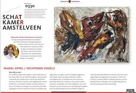 2020-november deel 1: Schatkamer van Amstelveen-Karel Appel- Herbert Raat