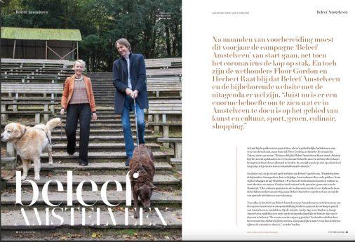 2020-december: Uitmagazine interview Floor Gordon D66 en Herbert Raat VVD over Beleef Amstelveen 2 van 4