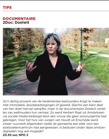 2012-22-2-Het Parool; aankondiging Doelwit