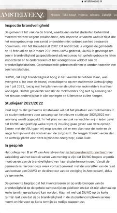 12-3-2021; AmstelveenZ; Herbert Raat over brand Uilenstede Amstelveen 2 van 2