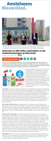 1-3-2021; Amstelveens Nieuwsblad; VBU en Herbert Raat over brand Uilenstede