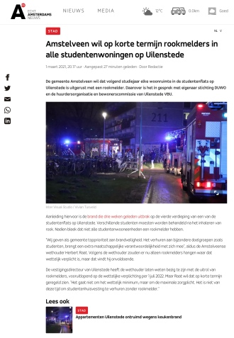 1-3-2021; AT5; over brand in Uilenstede Herbert Raat