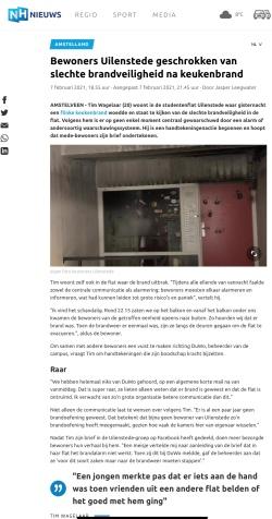 1-3-2021; NH Nieuws Uilenstede brand