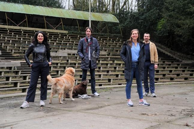 2021- Touria Meliani, James, Bibi, Herbert Raat en Ingejan Ligthart Schenk in het Bostheater