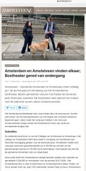 8-4-2021; Amstelveenz; Redding Bostheather Touria Meliani Herbert Raat, samenwerking Amsterdam en Amstelveen 1 van 2