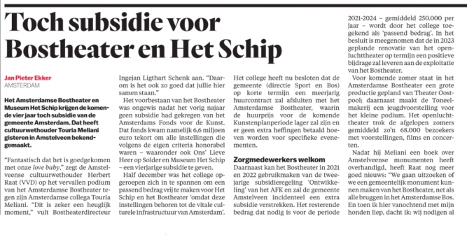 9-4-2021-Het Parool; Redding Bostheather Touria Meliani en Herbert Raat