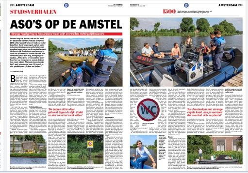 29-7-2021`: De Telegraag over handhaving Amstelveen op de Amstel-wethouder Herbert Raat