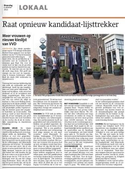 6-10-2021-Amstelveens Nieuwsblad Claudio Mancinelli em Herbert Raat over lijstrekkerschap VVD Amstelveen